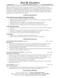 Sample Resume Summary Of Qualifications Best of Charming Food Service Resume Summary Of Qualifications With