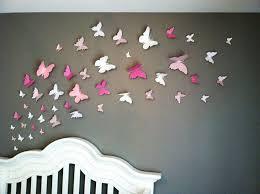 handmade wall decoration inspirational wall art ideas design pink paper erfly wall art