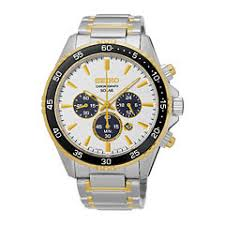 seiko men s watches for jewelry watches jcpenney seiko® mens two tone chronograph bracelet watch ssc446