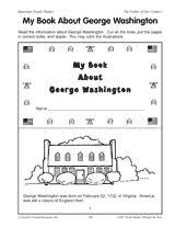 george washington facts george washington facts worksheets and   2 my book about george washington printable girls can make into a booklet