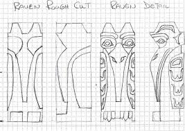 Totem Pole Design Template Totem Pole Raven Pattern Totem Pole Tattoo Native