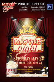 Free Movie Night Flyer Templates Movie Flyer Templates Magdalene Project Org