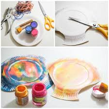 Paper Plate seashell craft step by step tags - paper plate, toddler crafts.  ocean