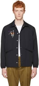 toga virilis black nylon embroidered jacket men toga virilis definition whole dealer