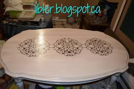 coffee table with chalk paint