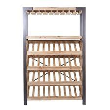 Weinregal Hwc D60 Flaschenregal Flaschenhalter Barschrank Weinständer Für 40 Flaschen Massivholz 189x114x39cm