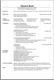curriculum vitae for internship sample curriculum vitae things to do internship resume