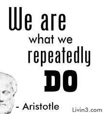 Resultado de imagen de aristotle we are what we repeatedly do source