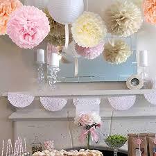 Tissue Paper Pom Poms Flower Balls 1piece Pompon Tissue Paper Pom Poms Flower Balls For Wedding Room Decoration Party Supplies Diy Craft Paper Flower