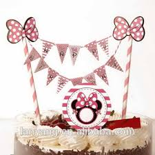 Mini Happy Birthday Cake Bunting Banner Cake Topper Buy Mini