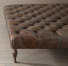 rh s 53 34 bennett square leather ottoman multipurpose furniture built with the refinement of its edwardian inspiration tightly tufted at top
