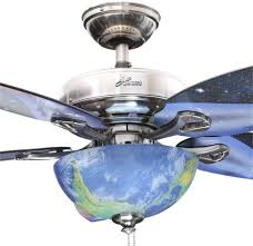 indoor brushed nickel ceiling fan with light kit outer space