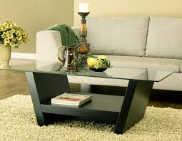 ... Creative Coffee Table Decorating Ideas Pictures For Your Living Room :  Fabulous Rectangular Glass In Black ...