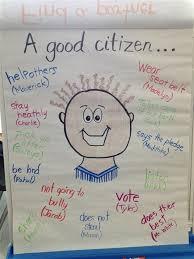 Good Citizen Citizenship Anchor Chart Teaching Social