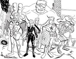 Small Picture The Avengers Assemble Coloring Page Download Print Online