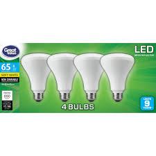 Walmart Great Value Led Light Bulbs Great Value Led Light Bulb 8w 65w Equivalent Br30 Reflector Lamp E26 Medium Base Non Dimmable Soft White 4 Pack Walmart Com