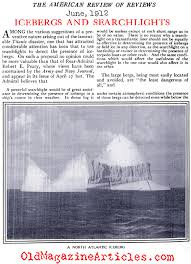 admiral robert peary interviewed regarding icebergs and titanic  admiral peary on icebergs and the titanic catastrophe review of reviews 1912