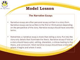 the city school gulshan boys campus karachi ppt  model lesson the narrative essays
