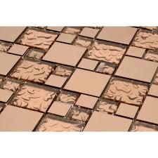 venetian copper dess glass tile