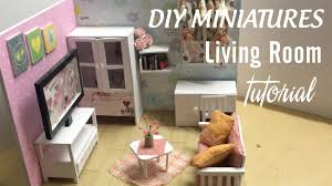 DIY Dollhouse Miniature Living Room | DIY Furniture Set Tutorial | FULL  Video - YouTube