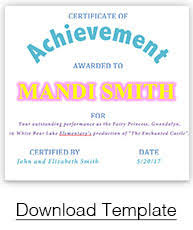 Award Templates Certificate Templates Paperdirects