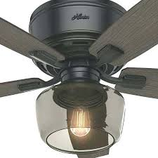 a large image of the hunter led low profile 52 ceiling fan blades hunter flush mount indoor ceiling fan