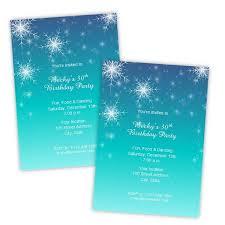 Snowflake Birthday Invitations Snowflakes Winter Birthday Invitation Template