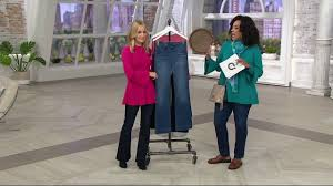 Laurie Felt Silky Denim Pull On Flare Jeans On Qvc
