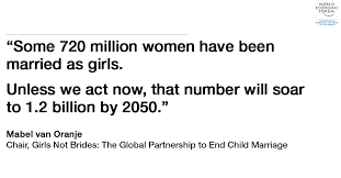 facts about child marriage world economic forum  mabel van oranje child marriage 1