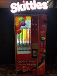 Create The Rainbow Skittles Vending Machine Impressive Skittles Vending Machine That Lets You Mix Your Own Ratio