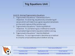 unit 5 solving trigonometric equations 1 trigonometric equations elementary form objective