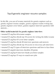 genetic engineer cover letter best salutation for a cover letter top8geneticengineerresumesamples 150516091051 lva1 app6892 thumbnail 4jpg cb 1431767498