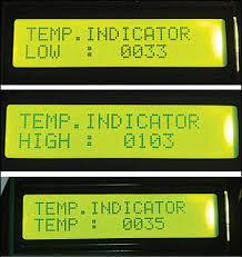 digital temperature controller full circuit diagram explanation fig 1 lcd display for the temperature controller