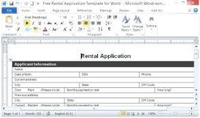 Rental References Form Printable Rental Application Template Tenant Lease Form Landlord