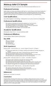 Additional Resume Skills Makeup Artist Cv Sample Myperfectcv
