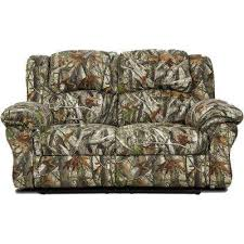 Camo Double Reclining Loveseat Printed Fabric Sofas59