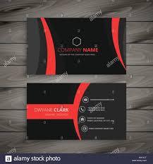 Red Design Company Dark Modern Red Black Business Card Template Vector Design