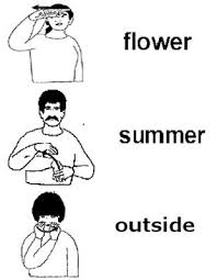 Sign Summer Worksheet Sign Language Book Sign Language
