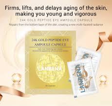 <b>LANBENA 24K gold</b> peptide <b>eye</b> ampoule capsule <b>eye</b> serum softgel