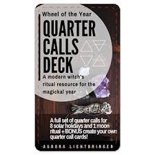 Quarter Cards Wheel Of The Year Quarter Calls Cards