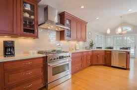 subway tile backsplash with cherry cabinets. Contemporary With Off White Subway Tile And Simple Pattern Granite Or Marble Cherry Wood  Cabinets Oak Kitchen To Subway Tile Backsplash With Cabinets C