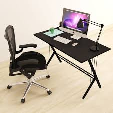 com modern design computer desk durable workstation for office home office dorm room black home kitchen