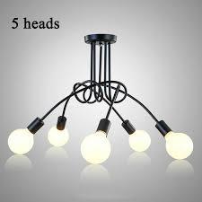 vintage ceiling lights modern light fixtures led lamps home lighting metal lampshade edison e27 holder