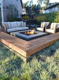 centered fire pit with sofa and matching armchairs diy