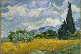 decorative famous modern art paintings 22 vincent van gogh whaet field with cypresses image via wikimedia org