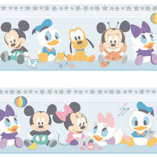 official disney baby mickey minnie mouse childrens nursery wallpaper border mk3500 1