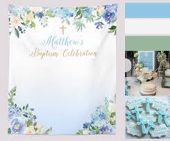 Background Decorations Design Baptism Backdrop First Communion Baby Boy Baptism Banner
