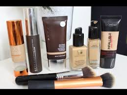 my favorite high end foundations oily acne skin