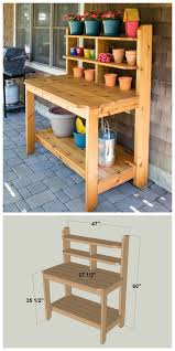 Build A Potting Bench Or Garden Buffet Table Pottery Barn Abbott Plans For A Potting Bench