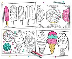 Small Picture 4 Printable Food Coloring Pages Kawaii Adult Coloring